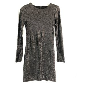 Cynthia Rowley black sequin dress, size 4